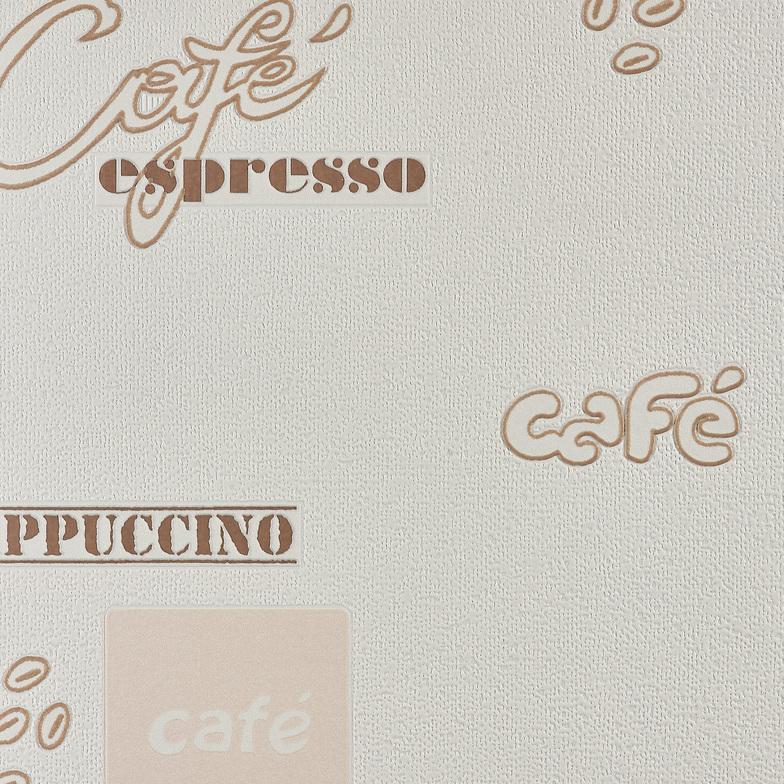 Vliestapete Vario Style 2020 Retro Kuche Wollweiss Kaffeebraun