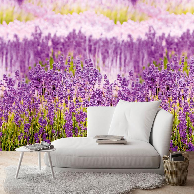 eine rolle ein motiv lavendel lila gr n lavendel lila gr n farbe dekor hammer zuhause. Black Bedroom Furniture Sets. Home Design Ideas