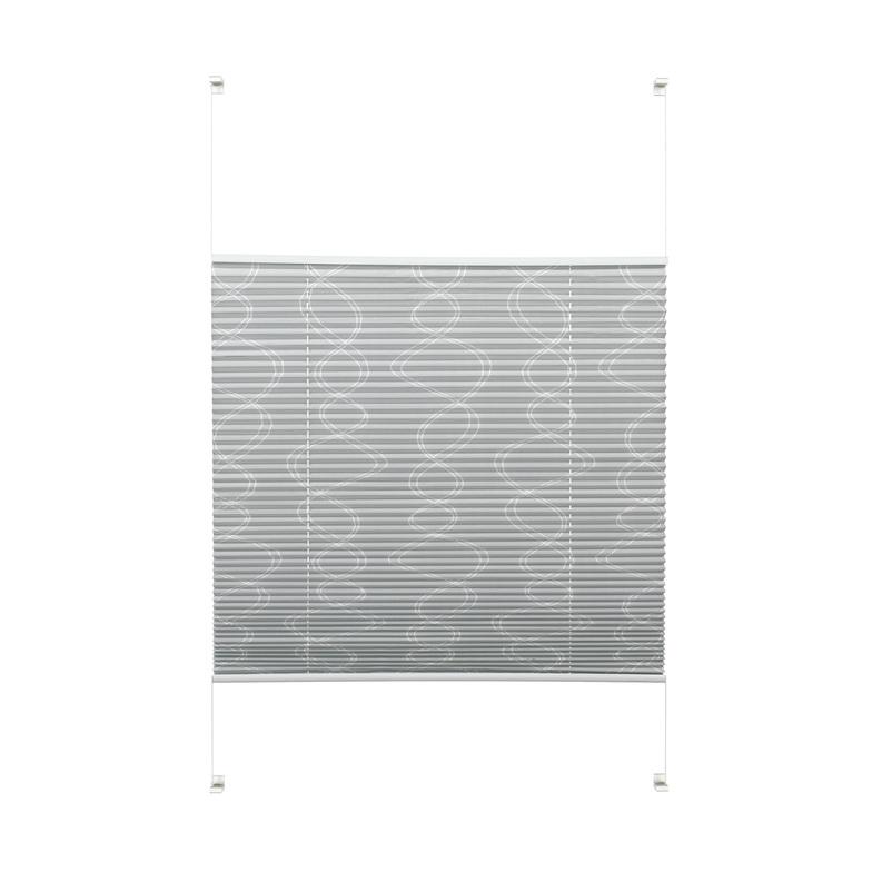 easyfix plissee curl grau 50 x 130 cm ma e hammer zuhause. Black Bedroom Furniture Sets. Home Design Ideas